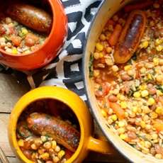 20 Minute One Pot Gluten Free Moroccan Sausage Stew + MOR Sausage Revi