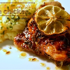 Lemon & Lavender Oven Chicken with Mustard Mash