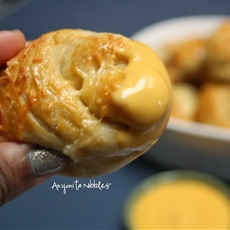 Honey Buttered Cheesy Soft Pretzel Knots