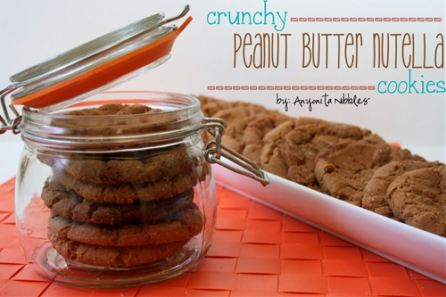 Crunchy Peanut Butter Nutella Cookies