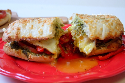 Vegetarian and Gluten Free Egg and Vegetable Ciabattas with Basil Pest