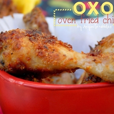 OXO Shake & Flavour Oven Fried Chicken, Coriander Griddled Corn