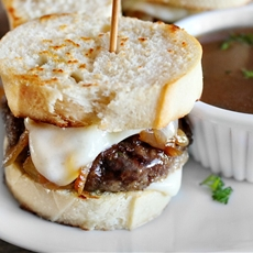 French Onion Soup Beef Sliders