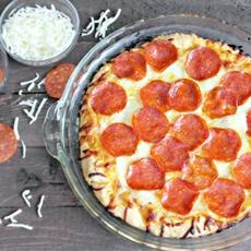 Easy 15 minute homemade deep dish pizza