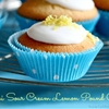 Mini sour cream lemon pound cake cupcakes