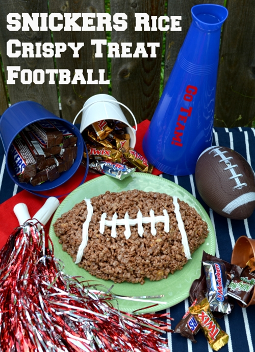 SNICKERS Rice Crispy Treat Football