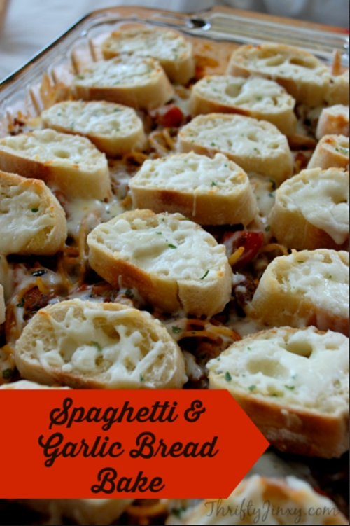 Spaghetti and Garlic Bread Bake