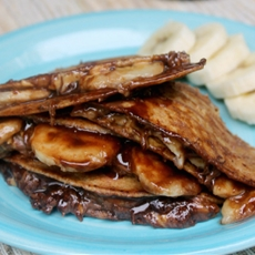 Peanut Butter Chocolate and Banana Quesadillas
