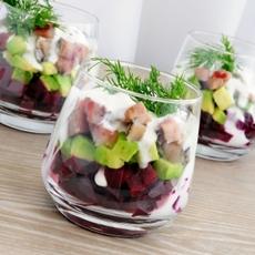 Hearty Avocado and Turkey Salad with Greek Dressing