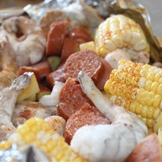 Simple Shrimp Boil Foil Packets on The Grill Or Oven