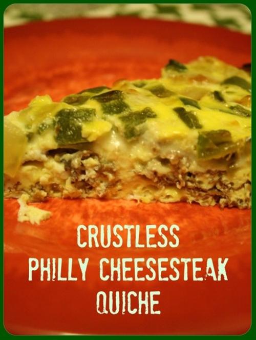 Crustless Philly Cheesesteak Quiche