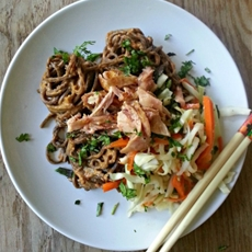 Chicken and Peanut Noodles