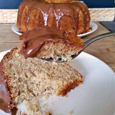 Frangelico Pound Cake with Nutella Glaze