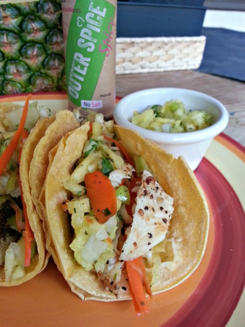 Spicy Island Fish Tacos