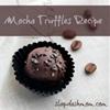 Mocha Truffles Recipe