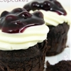Blueberry Cream Cheese Brownie Cupcakes