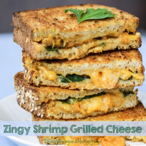 Zingy Shrimp Grilled Cheese