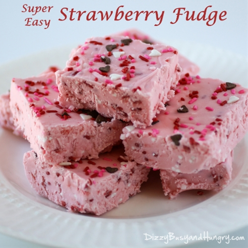 Super Easy Strawberry Fudge