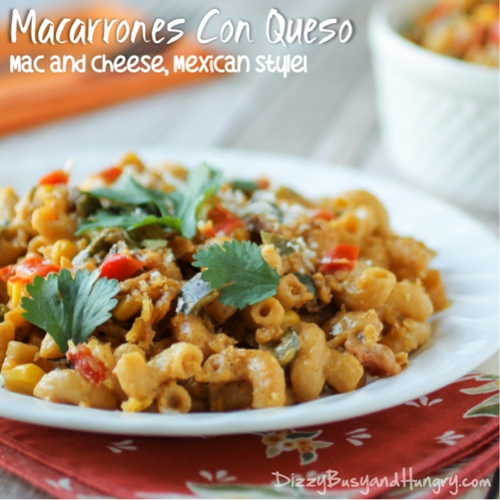 Macarrones Con Queso (Macaroni and Cheese, Mexican Style)