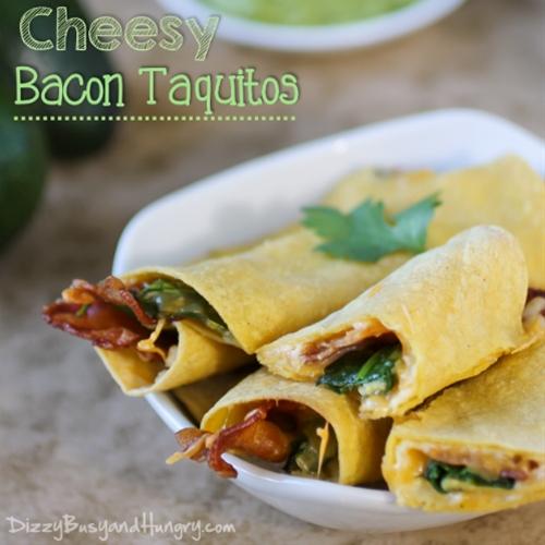 Cheesy Bacon Taquitos