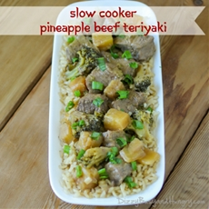 Slow Cooker Pineapple Beef Teriyaki