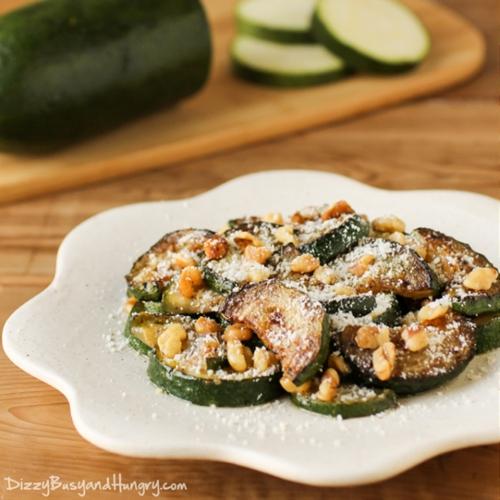 Sauteed Zucchini with Walnuts