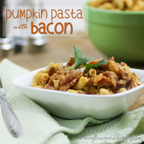 Pumpkin Pasta with Bacon