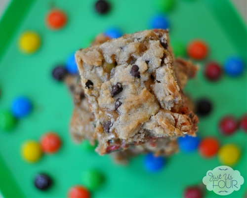 Salted Caramel M&M Bars