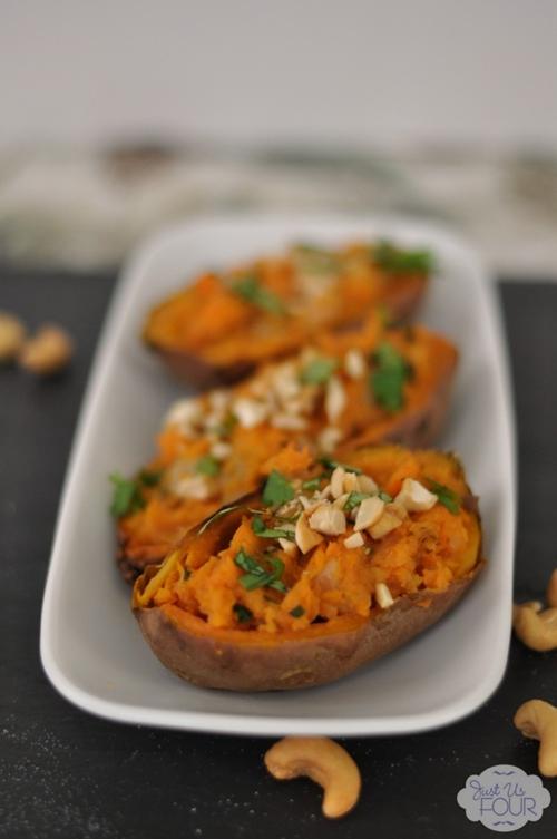 Indian Spiced Sweet Potato Skins recipe   Chefthisup