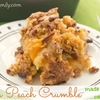 Easy Pecan Peach Crumble with Cake Mix