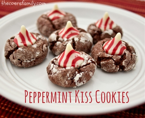 Peppermint Kiss Chocolate Cookies