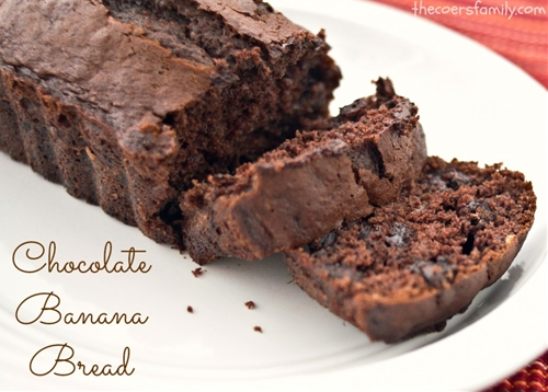 Chocolate Banana Bread - made with cake mix