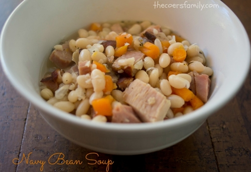 Navy Bean Soup - in the Crock Pot