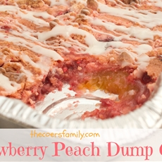 Strawberry Peach Dump Cake - The Coers Family