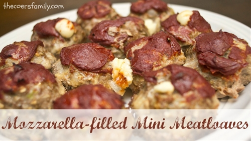 Mozzarella-filled Mini Meatloaves - The Coers Family