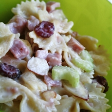 Cranberry almond pasta salad
