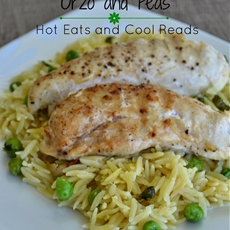Baked Chicken Tenderloins with Orzo and Peas