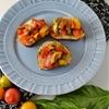 Tomato Basil Pretzel Roll Bruschetta