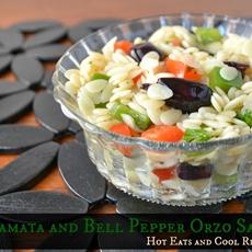 Kalamata and Bell Pepper Orzo Salad Recipe