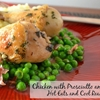Chicken Drumsticks with Prosciutto and Peas Recipe
