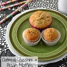 Oatmeal, Zucchini and Pecan Muffins Recipe