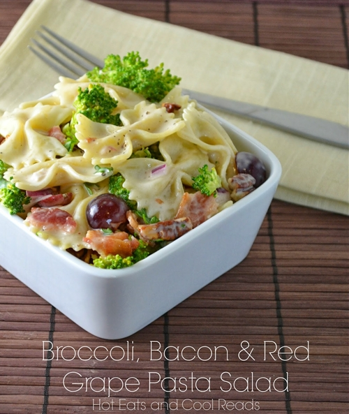 Broccoli, Bacon and Red Grape Pasta Salad