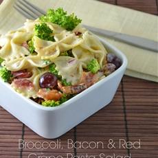 Broccoli, Bacon and Red Grape Pasta Salad
