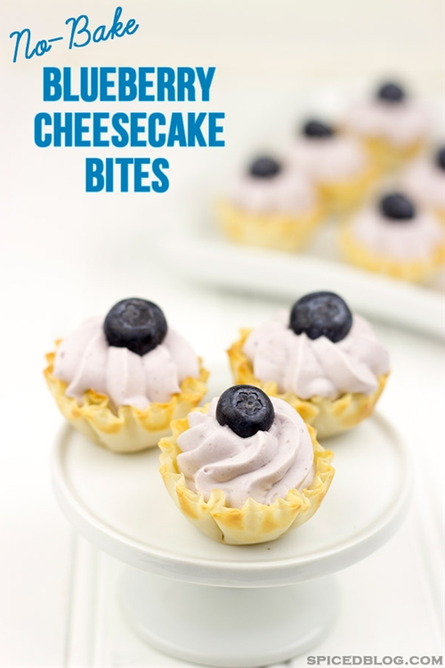 No-Bake Blueberry Cheesecake Bites