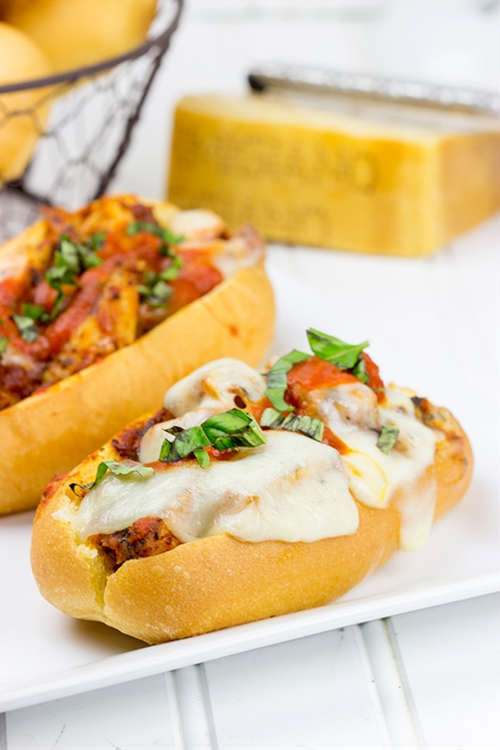 Grilled Chicken Parm Sandwich