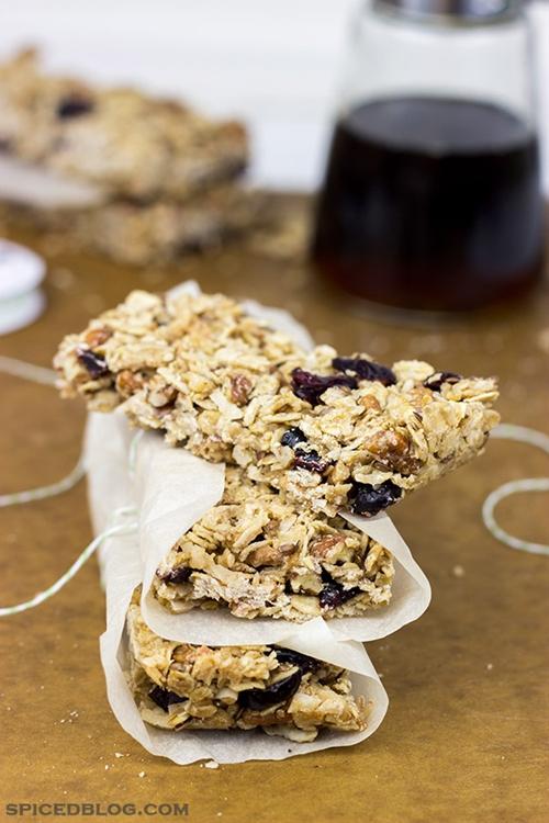 Maple Pecan Coconut Granola Bars