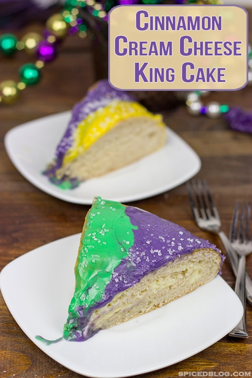 Cinnamon Cream Cheese King Cake