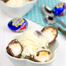 Cadbury Creme Egg Ice Cream