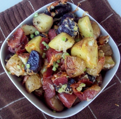 Bacon, garlic and parmesan potatoes