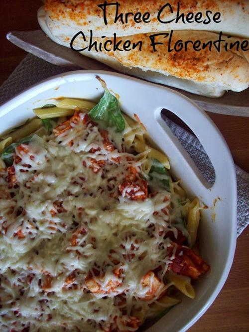 Three Cheese Chicken Florentine